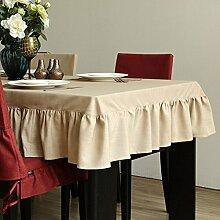 Tischtuch/Style Of American Country Vintage Tischdecke/Leinen Tuch-A 140x160cm(55x63inch)