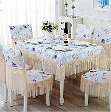 Tischtuch Tisch Tuch Stoffe Europäische Esstisch Schrank Schrank Set Set Pastoral Tee Tischdecke Runder Tisch Spitze Speisetisch Tuch Tischsets ( Farbe : A , größe : 110*160cm )