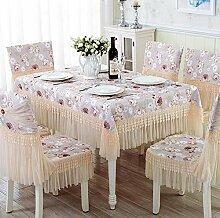 Tischtuch Tisch Tuch Stoffe Europäische Esstisch Schrank Schrank Set Set Pastoral Tee Tischdecke Runder Tisch Spitze Speisetisch Tuch Tischsets ( Farbe : B , größe : 110*160cm )