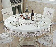 Tischtuch Tischdecke Stoffstickerei Hohle Tischdecke Stuhl Stuhl Stuhl Runder Teetisch Stoff Mahlzeit Tisch Garten Durchmesser 1.8m Tischsets ( Farbe : C , größe : Diameter 1.5m )