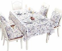 Tischtuch Tuch europäischen Stil Garten Tischdecke Baumwolle und Leinen Anzug einfache moderne Pasta elegante Tee Tischdecke 130 * 130cm , 140*190cm