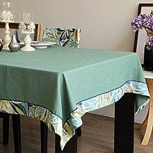 Tischtuch Tuch Leinen Frisches Amerikanisches Tischtuch,Tv-schrank Couchtisch Tuch-B 140x220cm(55x87inch)
