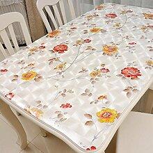 Tischtuch Weiches Glas PVC wasserdichte Tischdecke Tischdecke mattiert weiche Glas Kunststoff Tischmatten nicht waschen Tee Tisch Mats Tisch Kristallplatte Tischsets ( Farbe : B , größe : 60*60cm )