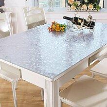 Tischtücher, PVC transparent wasserdicht, Anti-Heiß-Tee Tischmatten, matt Kristall Platte weichen Glas Tischmatten