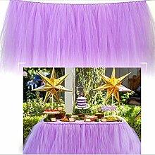 Tischtücher / Tischdekoration Mit Tüll, Für Hochzeiten, Baby-Feiern Oder Geburtstage Tulle Tisch-Dressing Tisch Rock Für Baby-Dusche Party Hochzeit Geburtstag Dekoration, 91.5X80cm (1PC),Purple,100*80Cm
