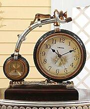 Tischuhr Europäische Retro Mute Uhr, Kreativ