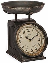 Tischuhr Uhr Antik Waagendesign Standuhr Metall