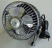 Tischventilator Lüfter klein Minilüfter Stand silbern 150mm 230Vol