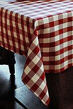 Tischwäsche mit 2 cm Karo aus Baumwolle - Farbe