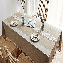 Tischwäsche Oval, waschbar Leinen Lotuseffekt