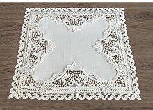 Tischwäsche rustikale Mitteldecke mit Spitze