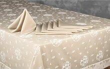 Tischwäsche-Set ClearAmbient Farbe: Nerzbraun