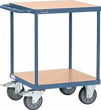 Tischwagen 2 Ladeflächen Trgf.500kg L600xB600mm PROMAT RAL 5014