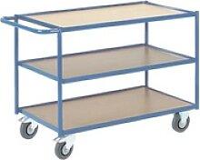 Tischwagen mit 3 Etagen »36 kg« blau, ROLLCART,