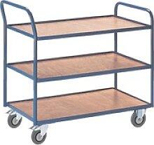 Tischwagen mit 3 Etagen »37 kg« blau, ROLLCART,