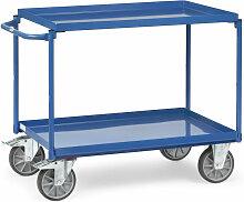 Tischwagen mit Stahlblechwannen 2 Etagen 850x500mm