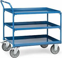 Tischwagen mit Stahlblechwannen 3 Etagen mit hohem