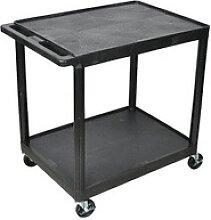 Tischwagen schwarz 61,0 x 46,0 cm bis 180,0 kg