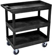 Tischwagen   schwarz 81,0 x 46,0 cm bis 230,0 kg