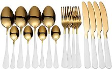 Tischwellware Goldener Besteck Gabel Löffel