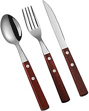 Tischwellwaren-Edelstahlbesteck-Set Gabeln Messer