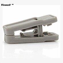 Tiswell TM 20Stück Magic Rutschfeste rutschfest Hosen Kleiderbügel, Clip für schlanke, grau
