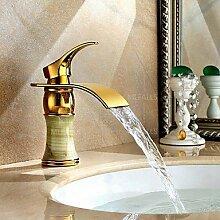 Titan PVD jade heißen Bad Waschbecken Wasserhahn Einhebel Einlochmontage