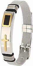 Titan Stahl Armband, Mode Kreuz Armband für