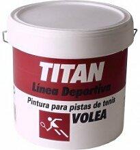 Titan Wandfarbe Tennis Volea rot Titan 4L
