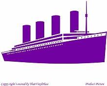 Titanic (59 cm x 35 cm) Farbe Purpple Badezimmer Childs Schlafzimmer Kinder Zimmer Aufkleber, Vinyl Aufkleber, Wand, Fenster und Wand Windows-Art Wandaufkleber aus Vinyl, Dekoration, ThatVinylPlace Aufkleber