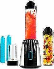 Titanium Cool Standmixer Smoothie Maker 350 W - Elektrisches Küchengerät mit Einzelbehälter zum Mitnehmen und abnehmbare, austauschbare Klingen - Für die Herstellung leckerer und gesunder Säfte und Smoothies - Leistungsstark dank 4 Messerklingen