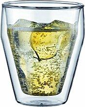 TITLIS: 2 Stück glas, doppelwandig, 0.25 l,