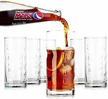 Tivoli Pepsi Cola Gläser- 350ml - Set aus 6 -