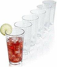 Tivoli Scotch Wassergläser - 365 ml - Set aus 6 -