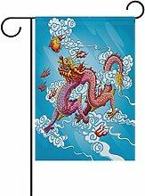 TIZORAX Chinese Dragon Malen, Garten-Mülleimer