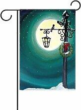 TIZORAX Christmas Moon Night Lights Garten Flagge