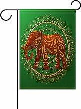 TIZORAX Elefant mit Orient Ornament Garten Flagge
