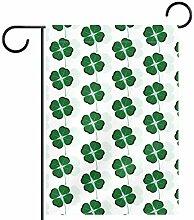 TIZORAX Garten-Flagge, Kleeblatt, wasserdicht,
