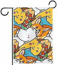 TIZORAX Garten-Flaggen für Katzen und Hunde,