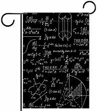 TIZORAX Garten-Flaggen mit Mathe-Muster und