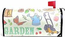 TIZORAX Garten-Set Magnetbriefkasten-Abdeckung