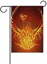 TIZORAX Gartenflagge mit Flamme, doppelseitig,