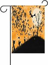 TIZORAX Halloween schwarz Katze Fledermaus Hexe