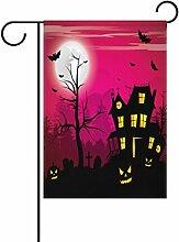 TIZORAX Halloween Vollmond-Laterne Kürbis