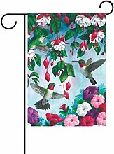 TIZORAX Hummingbird Blumen im Garten-double-sized