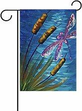 TIZORAX Libelle Garten Flagge Double Größe Print