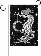 TIZORAX Meerjungfrau mit Mond in der Hand Garten