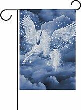 TIZORAX Pegasus in the Clouds Garten Flagge Double