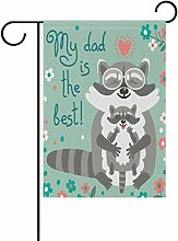 TIZORAX Raccoons für Väter Tag, Garten-, mit