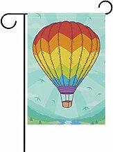 TIZORAX Rainbow Heißluftballon Garten Flagge